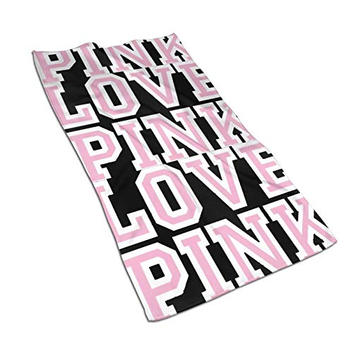 antoipyns Victoria Secret Love Pink Towels Kitchen Towels Dish Towel Tea Towel Hand Towel for Kitchen Dish Cloths 27.5X15.7 Inch 100% for Drying Dishes