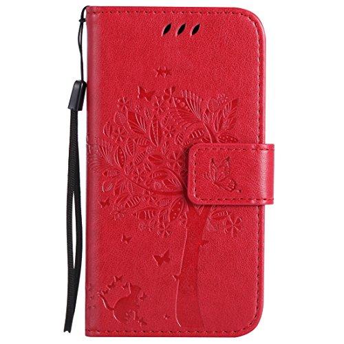 Nancen Compatible with Handyhülle Nokia Lumia 630/635 (4,5 Zoll) Flip Schutzhülle Zubehör Lederhülle mit Silikon Back Cover PU Leder Handytasche Etui Schale