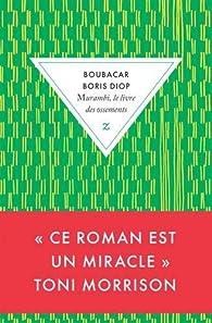 Murambi, le livre des ossements par Boubacar Boris Diop