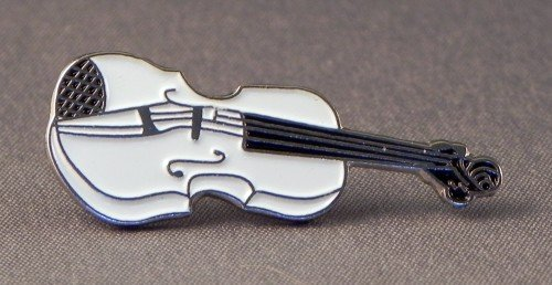 Pin de Metal Esmalte Broche – Atril para partituras Musical violín (Color Blanco)