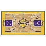 FanMATS NBA Los Angeles Lakers - Corredor de la NBA de Nailon para la Corte de los Ángeles, Color del Equipo, 29,5 x 54