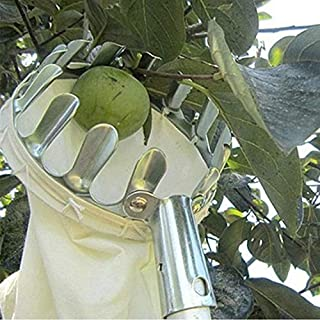 mingming52091 Fruit Picker Fruit Picking Tool Fruits Catcher with Cloth Basket Harvesters Fruit Collectors for Harvest Apple Pear Peach