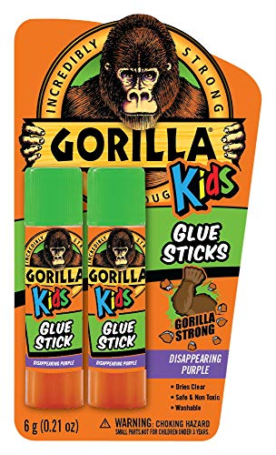 Gorilla Kids Disappearing Purple Glue Sticks, Two 6 gram Sticks, (Pack of 1)