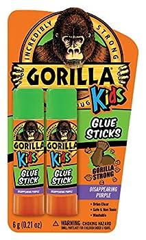 Gorilla Kids Disappearing Purple Glue Sticks Two 6 gram Sticks  Pack of 1