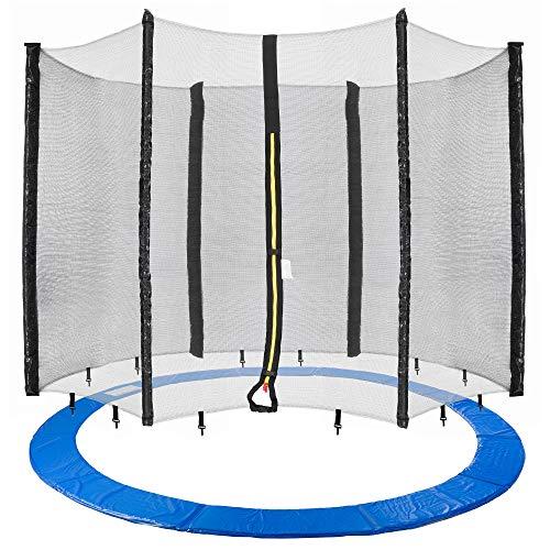Arebos Trampolin Randabdeckung und Netz / 244, 305, 366, 396, 430, 460 und 490 cm/für 6 und 8 Netzstangen (305 cm, Netz für 6 Stangen)
