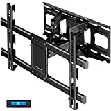 Full Motion TV Wall Mount with Height Setting JUSTSTONE TV Mount for Most 37-82 Inch Flat Curved TVs,TV Bracket Dual Articulating Arms Swivels Tilts Rotation Holds up to 121lbs, Max VESA 600X400mm