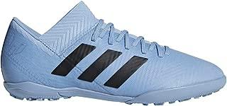 adidas Kids Unisex Nemeziz Messi Tango 18.3 TF Soccer (Little Kid/Big Kid) Ash Blue/Black/Raw Grey 4.5 M US Big Kid M