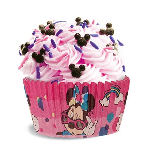dekora Disney Minnie Mouse Muffins Backformen Set-50 Stückt 5x 3cm, Papier, Rot, 5 x 5 x 3 cm