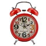 HERCHR Reloj Despertador Ruidoso de Campana Doble de 4.7 Pul