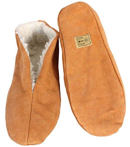 Sonia Originelli Hausschuhe echt Leder Puschen Mokassins Schluffis Gr.35-47 Leather Slippers B333 (41)
