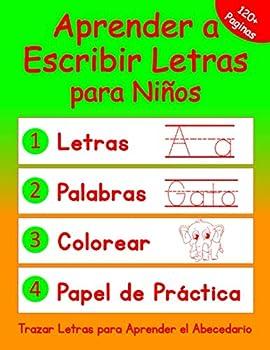 Aprender a Escribir Letras para Niños  Cuaderno de Trazar Letras en Español para Aprender el Abecedario  Libros Preescolares en Español   Spanish Edition