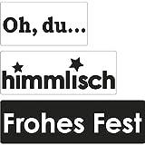 Rayher 34338000 Labels Oh.+himmlisch+Frohes, 30x15mm, 40x15mm, 50x15mm, SB-Btl 3Stück