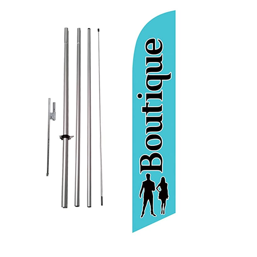 Boutique Advertising Feather Flag Banner Swooper Flag Kit w/Pole and Ground Stake