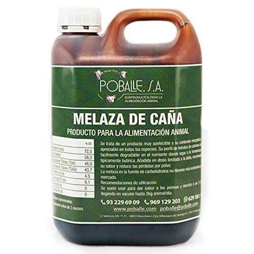 MELAZA POBALLE para COMPOST – Cultivo, cosechas y plantas. Garrafa de 2,5 kg de MELAZA de Caña de alta pureza.