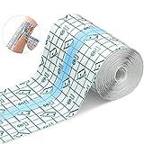 Benda trasparente impermeabile,10cm*10m cerotti elastici di fissaggio,bendaggio antiallerg...
