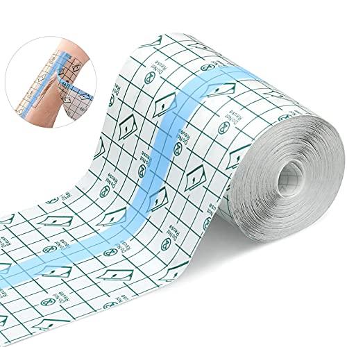 Wasserdicht Transparent Bandage,10cm*10m wasserdichtes pflaster,Fixierer Pflaster Stretch,transparentes pflaster rolleMedizinisches Klebeband,duschpflaster,antiallergisch,zum Sport, Duschen
