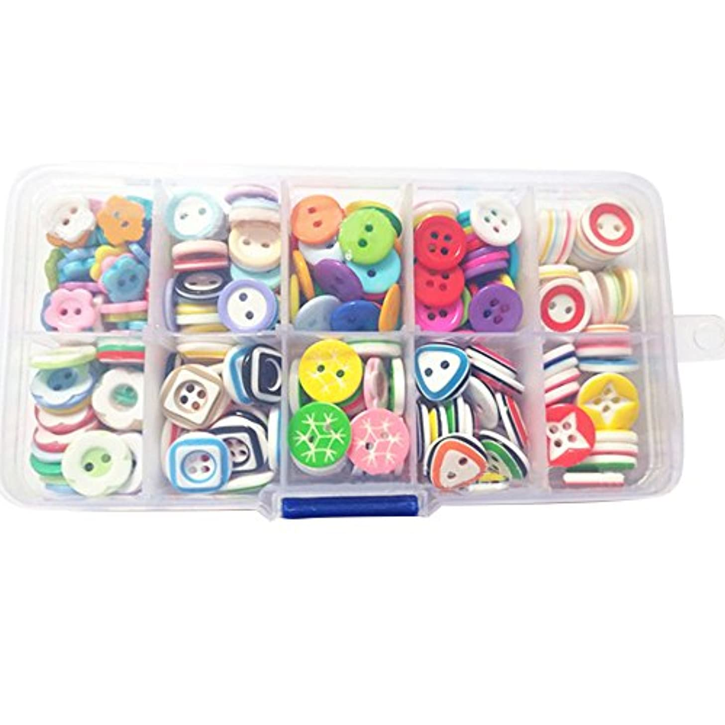 Souarts 285 Mixed Resin Buttons 2 Holes 4 Holes Scrapbooking Crafts Button for DIY with Box