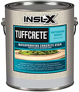Insl-X 1806470 TuffCrete Semi-Transparent Satin White Waterborne Acrylic Waterproofing Concrete Stain44; 1 gal - Case of 4