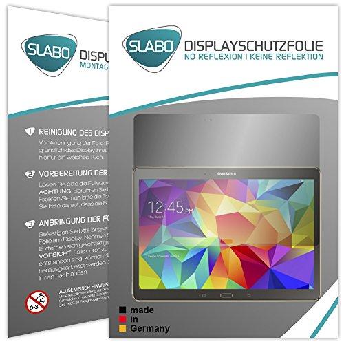 Slabo 2 x Bildschirmschutzfolie kompatibel mit Samsung Galaxy Tab S 10.5 (WiFi T800   LTE T805) Bildschirmschutz Schutzfolie Folie No Reflexion   Keine Reflektion MATT