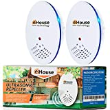 BH-1, 2Pack - Electronic Repeller Indoor Plug-in - Get rid of - Rodents, Mice, Rats, Squirrels, Bats, Insects, Bed Bugs, Ants, Fleas, Mosquitos, Fly, Spiders, Roaches!