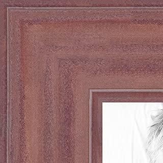 ArtToFrames 19x28 inch Ridged Mauve Barnwood Frame Wood Picture Frame, 2WOM0066-56673-YPNK-19x28