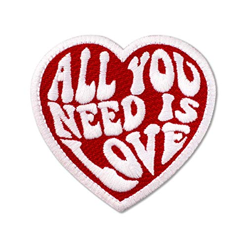 The Beatles All You Need is Love Embroidered Patch Iron On (3' x 2.8')