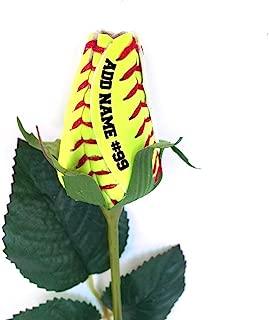 Personalized Softball Rose
