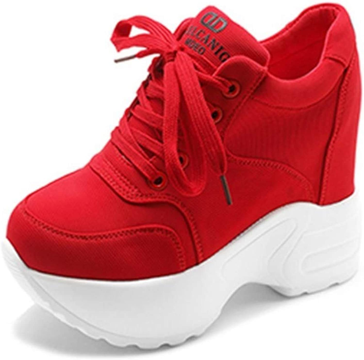 T-JULY Women Mesh Casual Platform Trainers White shoes Female Autumn Wedges Breathable Height Increasing shoes