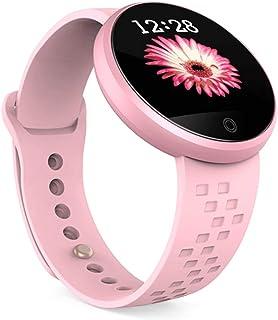 AIFB Recordatorio fisiológico Femenino Pulsera Inteligente, Pantalla a Color pulsómetro Podómetro Impermeable Monitorización del Sueño Notificaciones Inteligentes para Android iOS Phone,Pink-OneSize