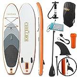 CHILLROI Tabla de surf de remo hinchable con mochila y bomba de...