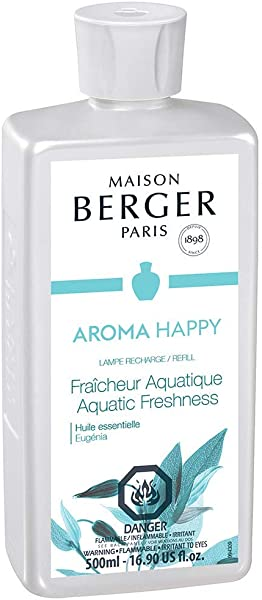 Aquatic Freshness Lampe Berger Fragrance Refill For Home Fragrance Oil Diffuser Purifying And Perfuming Your Home 16 9 Fluid Ounces 500 Milliliters Aroma Happy Essential Oil Made In France