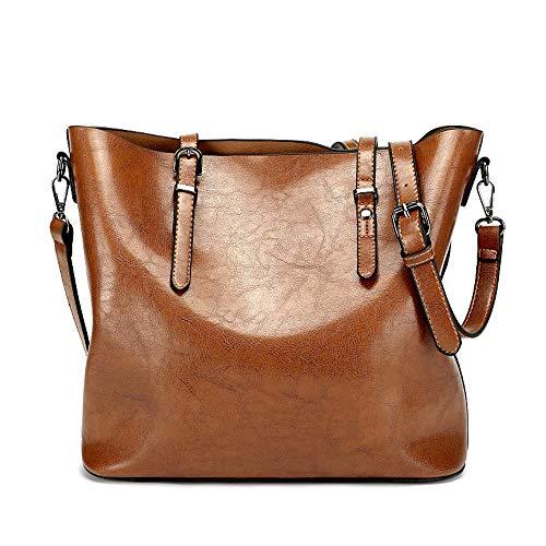 QinWenYan Womens Handbag Women's Handbag Multi-function Single Shoulder Hand-held Cross-body For Work Leisure Brown for Women (Color : Brown, Size : Free size)