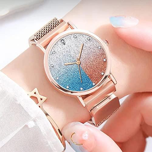 Womens Analoge Klassische Quarzuhr Mit Legierungsgürtel Lässig Einfache Zifferblatt Sternenhimmel Luxus Quarz Armbanduhren Geschenk