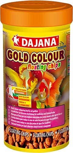 Dajana Gold Colour Floating Chips 100 ml – Aliment de base pour une meilleure coloration des caras dorés et des cyprins dorés
