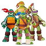 Paquete de 4 Juguetes de Tortuga Ninja Mutante Adolescente Figuras de Acción de Tortuga Ninja Mutante Adolescente Modelo de Personaje de Acción 12cm (4.8'') Ninja Turtles Figures