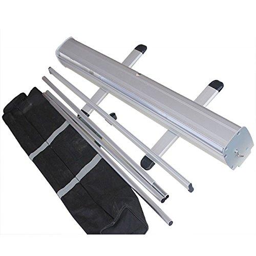 Bannerständer, 800 mm, ausziehbar, zum Aufrollen, Kassettenbanner, Bannerständer, 850 x 2000 mm