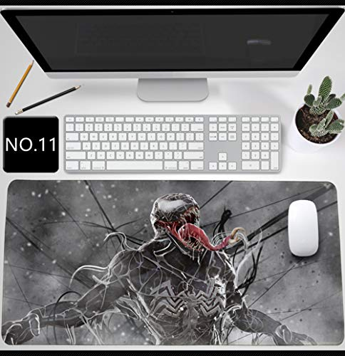 Venom Mouse Pad,Professional Large Gaming Mouse Pad, Classic Pattern Mouse mat,Extended Size Desk Mat Non-Slip Rubber Mouse Mat Marvel (900 × 400 × 2 mm / 35.5 × 15.8 × 0.1 inch, 11)