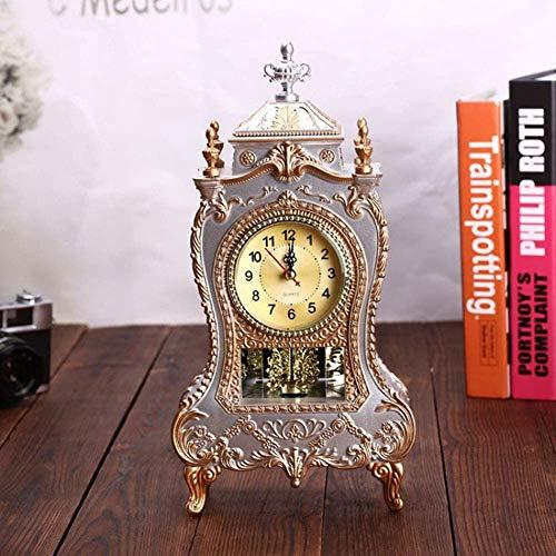 Wyxy Reloj De Repisa, Antiguo Reloj De Mesa Decorativo, Antiguo Reloj Colgante, Sala De Estar, Oficina, Decoración del Hogar, Regalos, Funcionamiento con Pilas