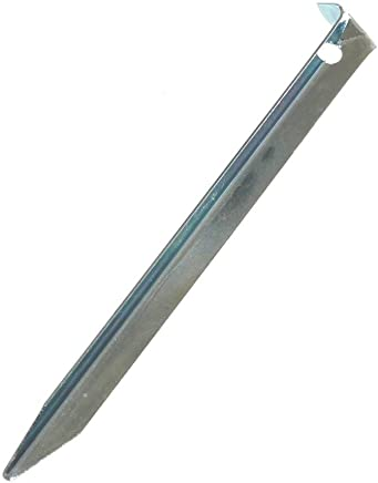 250x7mm - 24 St/ück ideal f/ür normalen und harten Boden Lange und robuste Erdn/ägel mit Halterung aus Kunststoff f/ür Camping und Outdoor com-four/® 24x Zelt-Heringe aus Stahl