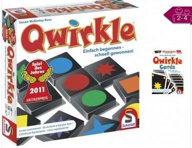 Schmidt Spiele Bundle Qwirkle Plus Qwirkle Kartenspiel