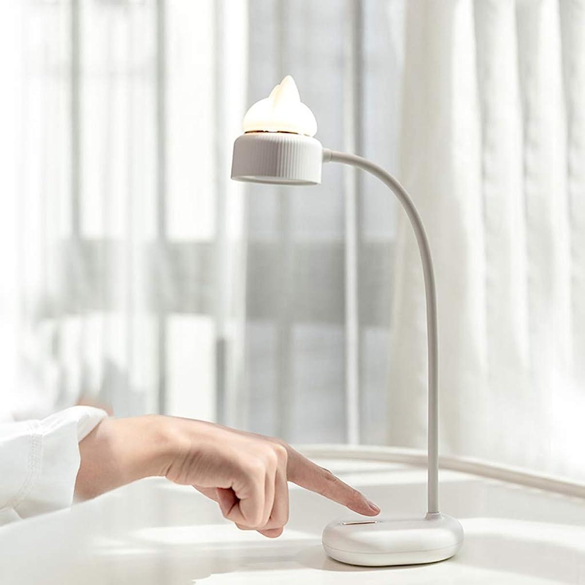 現象生きるロボットLEDナイトライト 小型省エネの寮の読書目の保護の暖かい色の卓上スタンドが付いているLEDの夜ライト LEDナイトライト (Color : White)