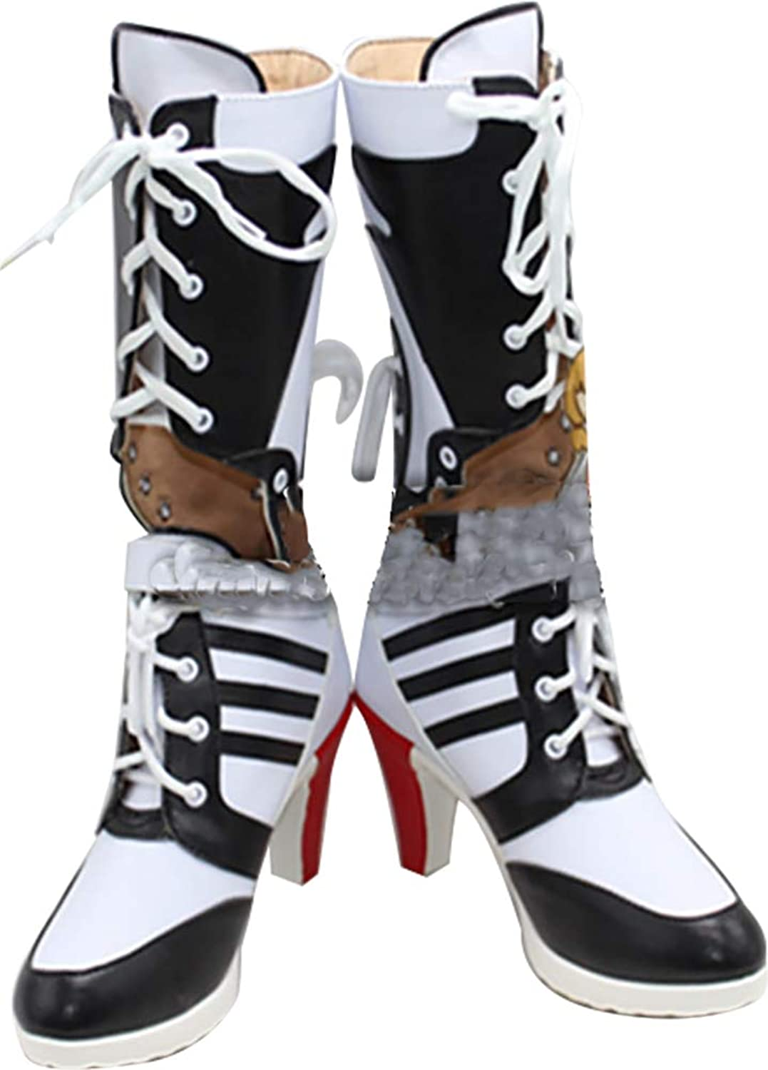 Whirl Cosplay Boots shoes for Batman Suicide Squad Harley Quinn High Heel