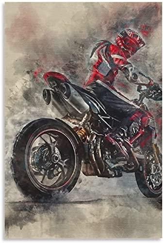 """PóSter Y Estampados Ducati Hypermotard para la decoración de la Sala de Estar Lienzo Pintura Pared Arte Cuadros 15.7""""x23.6""""(40x60cm) Sin Marco"""