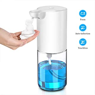 CONBOLA Automatic Hand Soap Dispenser, Foaming Touchless Liquid Foam Dispenser, Kitchen Hands Free Soap Pump with 0.25s Infrared Motion Sensor for Home, Office, 10.82 fl. oz Capacity