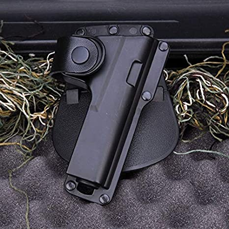 LIUSHUNBAO, Caza Rifle Accesorio de Pistola Bolsa Funda de cinturón Airsoft Roto Holster Ruger SR9 con luz láser Rugar for Glock 17 Etc Negro