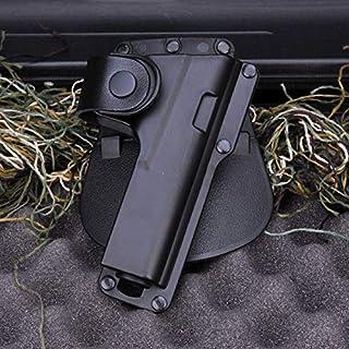 XFC-ホルスター、 狩猟用ライフル銃アクセサリーポーチベルトホルスターエアガンROTOホルスタールガーSR9と光レーザールガーグロック17などブラック