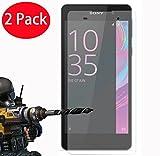 FoneExpert® 2 Pack - Sony Xperia E5 Verre Trempé, Vitre Protection Film de Protecteur d'écran...