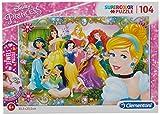 Clementoni- Puzzle 104 Piezas con Joyas Princess, Multicolor, única (20147.1)