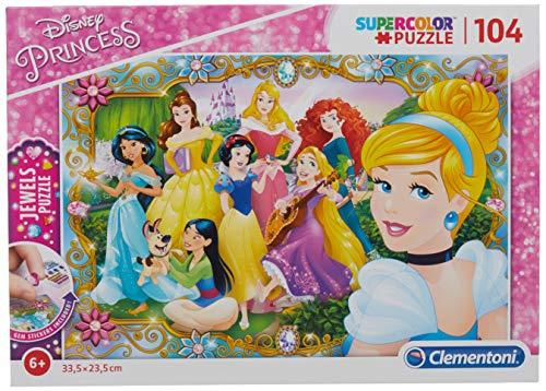 Clementoni- Puzzle 104 Piezas con Joyas Princess, única (20147.1)