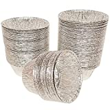 AxeSickle 150Pcs Disposable Baking Cups Tin Foil Pans Cups 120 ML Aluminum Foil Cupcake Bowl Pans, Muffin Ramekin Utility Cup, Hot Cold Freezer Roasting Baking Oven Safe, 3.1 x 2.1 x 1.3 inch.